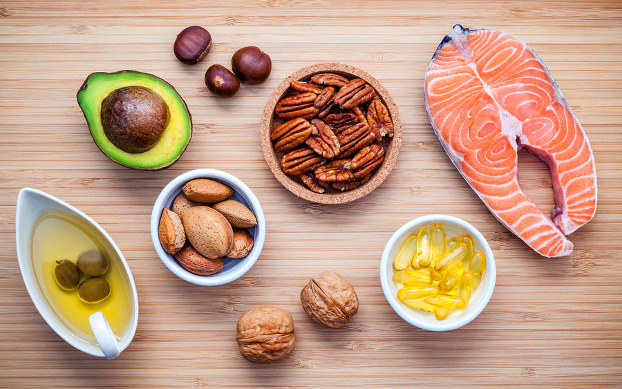 Selection Food Sources Of Omega 3 And Unsaturated Fats. Super Fo